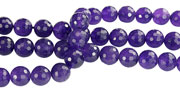 Design 16243: purple amethyst faceted beads