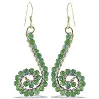 Design 20977: green peridot earrings