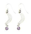 Design 21053: purple amethyst earrings