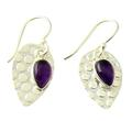 Design 21058: purple amethyst earrings