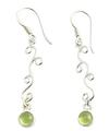 Design 21059: green peridot earrings
