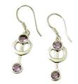 Design 21069: purple amethyst earrings