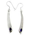 Design 21077: purple amethyst earrings