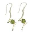 Design 21080: green peridot earrings