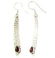 Design 21081: red garnet earrings