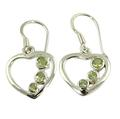 Design 21086: green peridot earrings