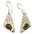 Design 21092: green peridot earrings