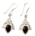 Design 21093: red garnet earrings