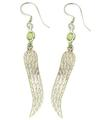 Design 21095: green peridot earrings