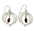 Design 21096: red garnet earrings