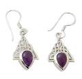 Design 21101: purple amethyst earrings