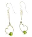 Design 21104: green peridot earrings
