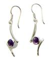 Design 21109: purple amethyst earrings