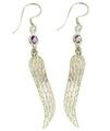 Design 21113: purple amethyst earrings