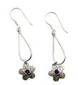 Design 21114: purple amethyst flower earrings