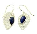 Design 21118: blue lapis lazuli earrings