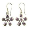 Design 21120: purple amethyst earrings