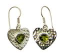 Design 21121: green peridot earrings