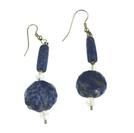 Design 6434: blue lapis lazuli earrings
