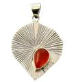 Design 21141: orange carnelian pendants