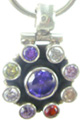 Design 5189: Blue/ Clear iolite pets pendants