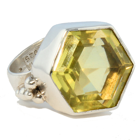 lemon quartz rings
