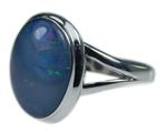 Design 21270: multi-color opal rings
