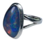 Design 21274: multi-color opal rings