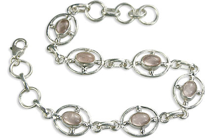 SKU 14646 - a Rose quartz bracelets Jewelry Design image