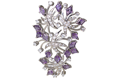 SKU 11646 - a Amethyst brooches Jewelry Design image