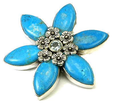 SKU 9458 - a Turquoise Brooches Jewelry Design image