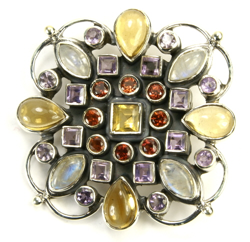 SKU 9489 - a Multi-stone Brooches Jewelry Design image
