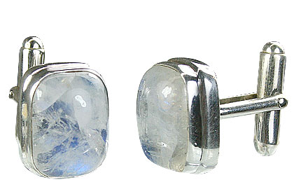 SKU 16177 - a Moonstone cufflinks Jewelry Design image