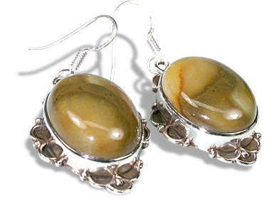 SKU 11955 - a Agate earrings Jewelry Design image