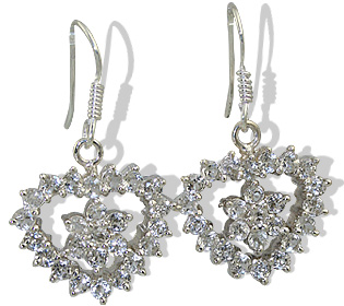 unique White topaz earrings Jewelry