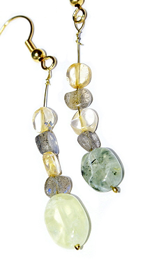 SKU 12623 - a Prehnite earrings Jewelry Design image