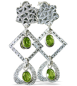 SKU 12901 - a Peridot earrings Jewelry Design image