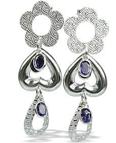 SKU 13012 - a Iolite earrings Jewelry Design image