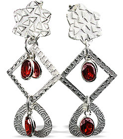 SKU 13014 - a Garnet earrings Jewelry Design image