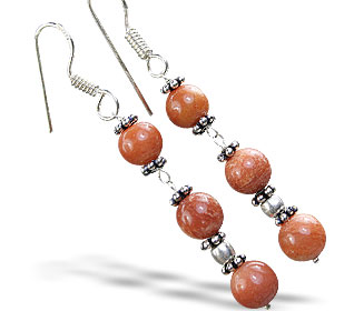 SKU 14850 - a Jasper earrings Jewelry Design image