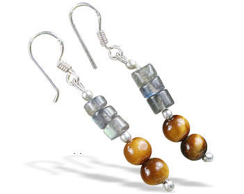 SKU 16380 - a Tiger eye Earrings Jewelry Design image