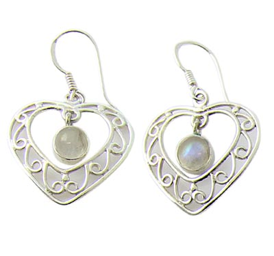 SKU 21110 - a Moonstone Earrings Jewelry Design image