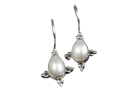 SKU 9099 - a Pearl Earrings Jewelry Design image