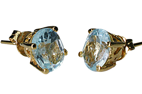 SKU 9916 - a Blue Topaz earrings Jewelry Design image