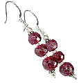 Design 11878: Pink ruby earrings
