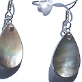 Design 15076: gray shell earrings