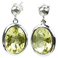 Design 15431: yellow lemon quartz post earrings