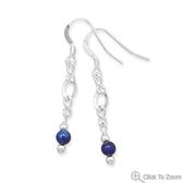 Design 21864: blue lapis lazuli drop earrings