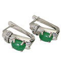 Design 9406: green,white emerald earrings