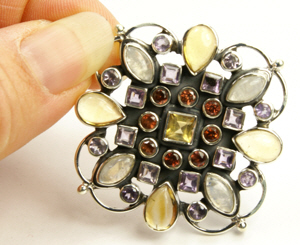 SKU 9489 unique Multi-stone Brooches Jewelry